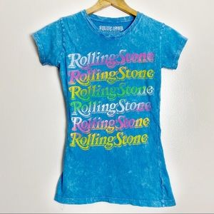 Rolling Stone Collection Acid Wash Graphic T Shirt